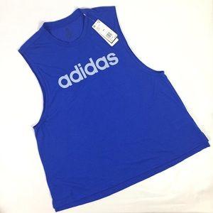 Womens Adidas Dash Tank Top Shirt Blue Size 2XL